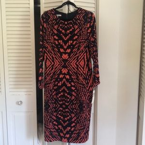 NWT AMAZING Maggy London Navy/Coral Dress